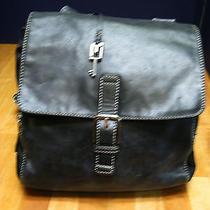 Fossil Purse Black Leather and Microfiber- Used Gently Photo