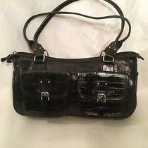 Fossil Purse Black Leather Shoulder Handbag Vintage 75082 B Photo