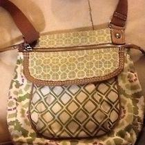 Fossil Purse Canvas Flower Green Photo