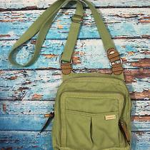 Fossil Purse Crossbody Canvas Bag Green Handbag Photo