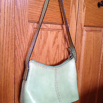 Fossil Purse Green Leather Photo