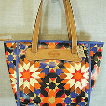 Fossil Purse Key Per Starburst Shopper Satchel Tote Bag Nwt Photo