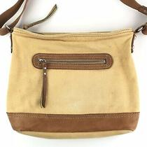 Fossil Purse Shoulder Bag Yellow Canvas Leather  Photo