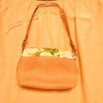 Fossil Purse Straw and Cloth Photo