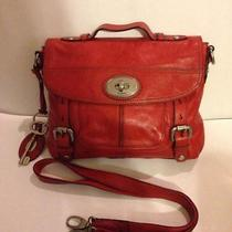 Fossil Rare Long Live Vintage Messenger Bag W/ Detachable Strap and Keychain Photo