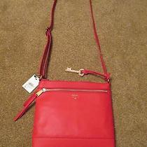 Fossil Real Red Gifting Crossbody Purse Handbag Photo