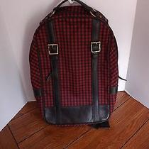 Fossil Red and Black Buffalo Check Backpack-Book Bag Unisex Photo