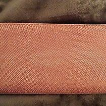 Fossil Red and White Suede Zip Around Wallet  Photo