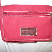 Fossil Red Canvas Purse Photo