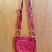 Fossil Red Leather Crossbody With Adjustable Strap Photo
