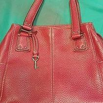 Fossil Red Leather Handbag Photo
