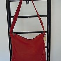 Fossil Red Leather Hobo Bag  Photo