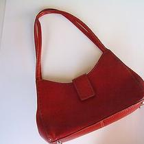 Fossil Red Leather Shoulder Bag Purse Zb9094 Photo