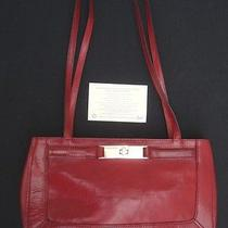 Fossil Red Leather Shoulder Bag Satchel Purse Photo