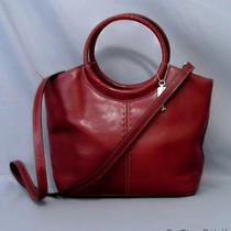 Fossil Red Leather Shoulder or Satchel Bag Purse Handbag Circular Hand Strap Photo