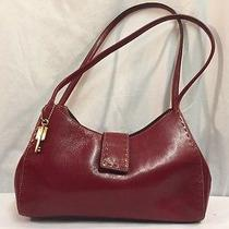 Fossil Red Leather Shoulder Purse Photo