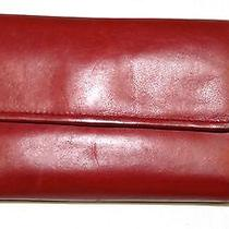Fossil / Red  Leather Wallet  Photo