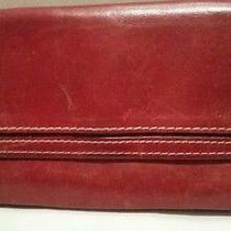 Fossil Red Leather Wallet Photo