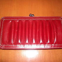 Fossil Red  Leather  Wallet/clutch Photo