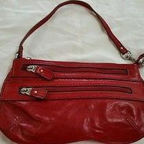 Fossil Red Leather Wrist/handbag. Photo
