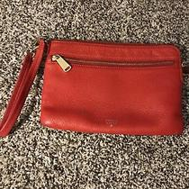 Fossil Red Leather Wristlet Wallet Photo