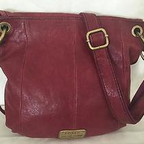 Fossil Red Pebbled Leather Crossbody Photo