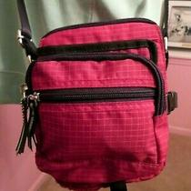 Fossil Red Shoulder Bag Bum Bag Belt Bag 5 Zippered Pockets Slots and Binder Photo