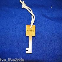 Fossil Replacement Wood Key Purse Key Fob Purse Hangtag Leather Strap Photo