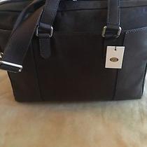 Fossil Ridge Document Bag Briefcase Laptop Work Bag Leather Lead Photo