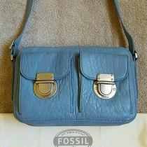 Fossil Riley Crossbody Smokey Blue Leather Photo
