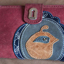 Fossil Ruby Leather Wallet / Clutch Photo