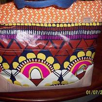 Fossil Safari Print Key Per  Tote/handbagnwt Free Shipping Photo