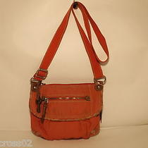 Fossil Salmon Pink/faded Red Cloth Cross Body Shoulder Bag Purse Photo