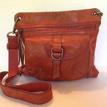 Fossil Sasha Brown Genuine Leather Cross Body Messenger Shoulder Bag Photo
