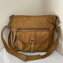 Fossil Sasha Mustard Leather Crossbody Messenger Shoulder Handbag Photo