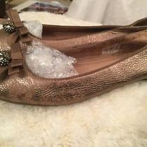 Fossil Sassy Owl Charm Metallic Gold Women's Ballet Shoes Size 8.5 M Msrp 99 Photo
