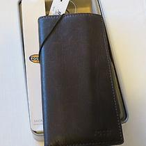 Fossil Secretary Wallet Ingram Brown Ml3352200 Check Book Id Credit Card Leather Photo