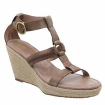 Fossil Selena Wedge Sandal Antique Gold 10 - New Photo