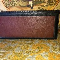 Fossil Shelby Clutch Black Leather Wallet Retail 65 Photo