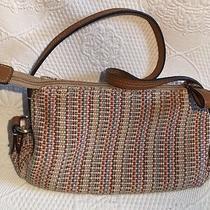 Fossil Shoulder Bag / Purse Style 3787- Multi Color Woven / Knit Photo