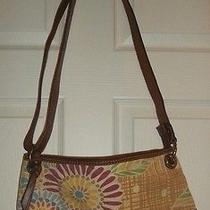 Fossil Shoulder Bag With Flowers Photo