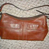 Fossil Shoulder Strap Leather Handbag/purse Photo