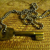 Fossil Signature Brass-Tone Key Chain Necklace Photo