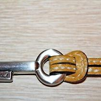 Fossil Silver Key Mustard Yellow Leather Replacement Purse Charm  Photo
