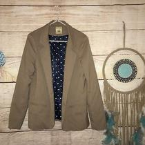 Fossil Size Large Brown Career Blazer Sexy Tan Work Job Hearts Boho Photo