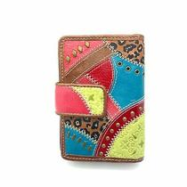 Fossil Sl 9369 Genuine Leather Woman's Multi-Color Wallet Photo