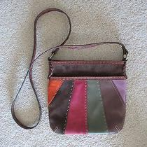 Fossil Sl3702 Leather/suede Patch Hobo Bag Photo