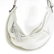 Fossil Slouchy Hobo Sling Off White Soft Leather Shoulder Bag Purse Tassel Photo