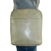 Fossil Small Beige Leather Shoulder Hobo Tote Satchel Crossbody Slouch Purse Bag Photo