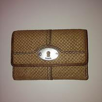 Fossil Small Beige Wallet  Photo